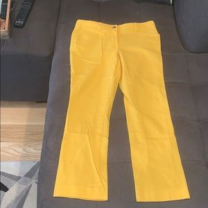 Anne Klein yellow ankle pants size 0